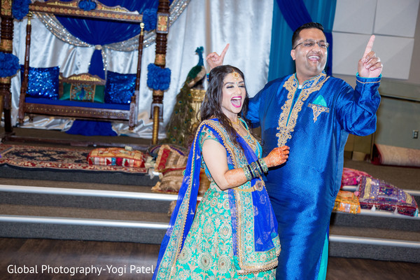 pre- wedding celebrations,sangeet,indian bride and groom,bridal jewelry
