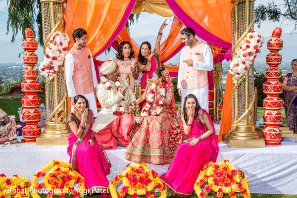 indian wedding ceremony,indian bride and groom,indian groomsmen fashion,indian bridesmaids' fashion