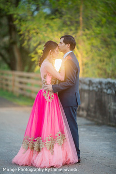 Utterly romantic indian bride and groom moment