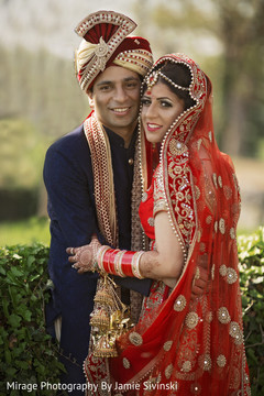 Fairty tale indian bride and groom