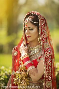 Delightful indian bride posing