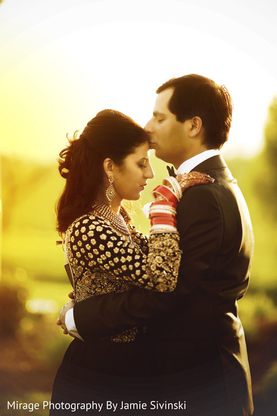 Heart melting indian bride and groom photo shoot