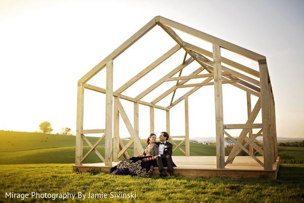 Dreamy outdoor indian couple photo shoot
