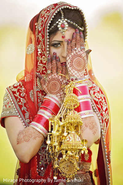 Vibrant indian bride portrait