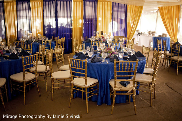 Elegant indian wedding reception decor