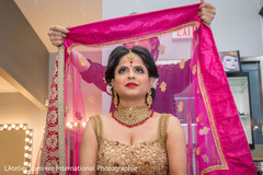 indian bride,indian bride getting ready,indian bride hair and makeup,bridal jewelry