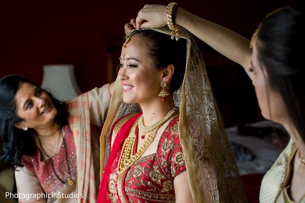 Indian bride wedding style.
