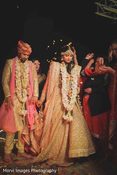 indian wedding ceremony,saptapadi ritual,indian bride and groom