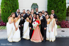 indian bridal party,indian couple,indian groomsmen