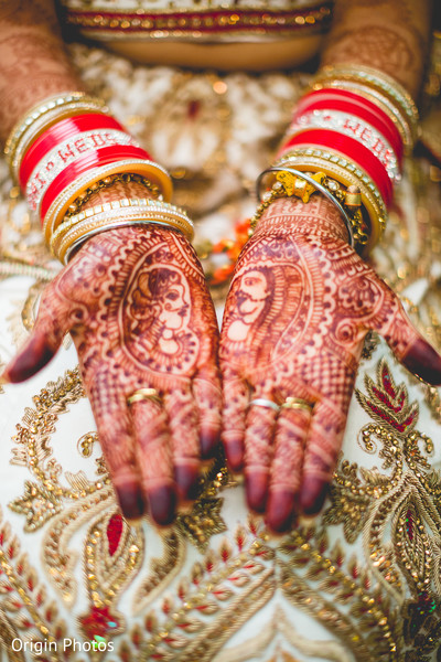Beautiful bridal mehndi in Great Neck, NY Indian Wedding by Origin Photos