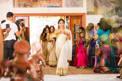 indian bridesmaids,indian wedding,white and gold sari
