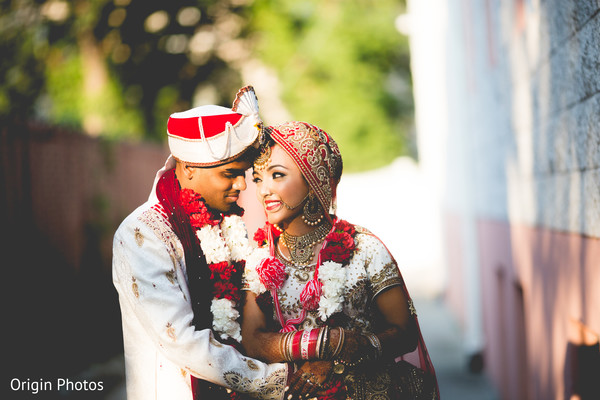 Beautiful indian newlyweds in Great Neck, NY Indian Wedding by Origin Photos