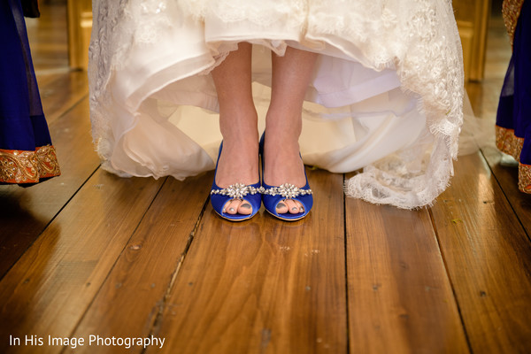 indian bride,white wedding dress,bridal shoes