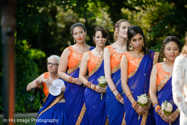 indian fusion wedding ceremony,indian bridesmaids,indian wedding photography