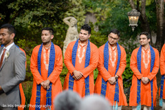 indian fusion wedding ceremony,indian groomsmen,sherwani