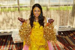indian bride,milni,yellow sari