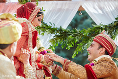indian bride and groom,indian wedding ceremony,indian bridal fashion