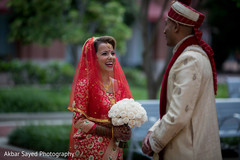 indian groom fashion,indian bride fashion,outdoor photography,first look photography,indian bridal bouquet