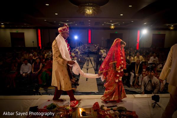 indian wedding ceremony,indian bride fashion,indian groom fashion,saptapadi ritual