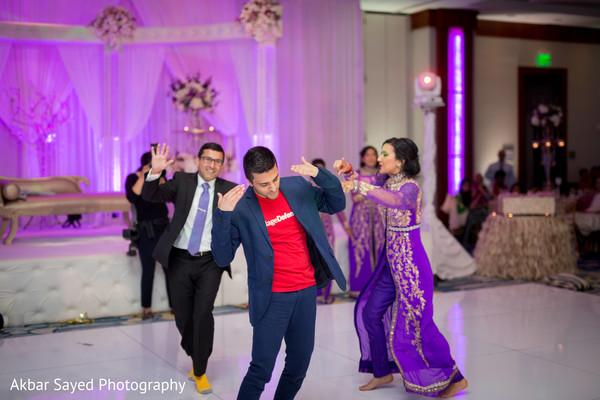 Vibrant wedding reception moment