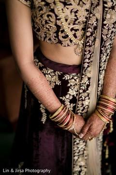 indian bride lengha,maharani's bridal bangles,mehndi art