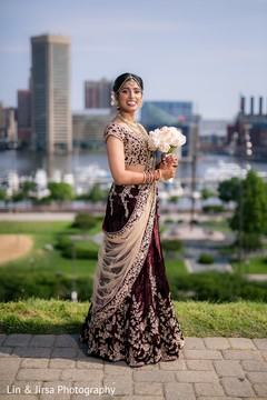 indian bride lengha,indian bridal bouquet,indian bride portrait