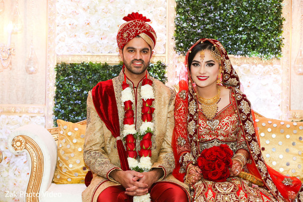 floral and decor,nikaah,pakistani bride and groom