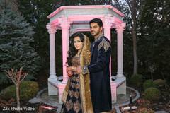 Outdoor gardens Pakistani wedding photo shoot.