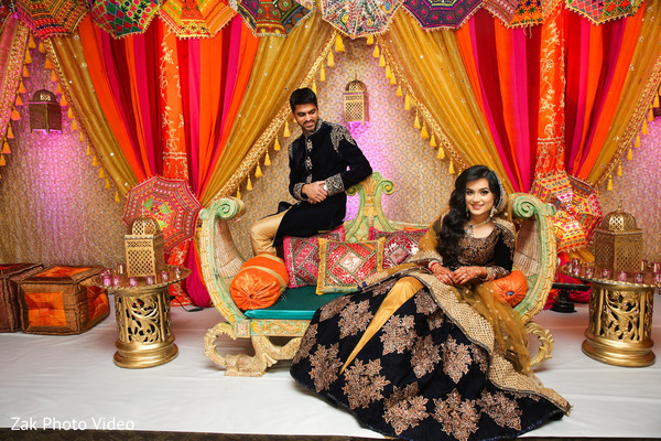 Insanely Pakistani bride and groom beautiful  photo.