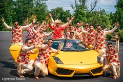 indian wedding,transportation,indian groomsmen,baraat