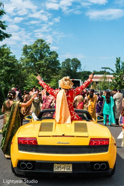 indian wedding procession,transportation,indian groomsmen,baraat