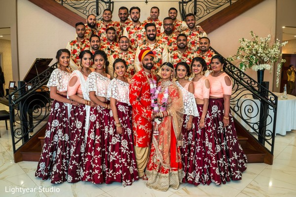 indian wedding photography,wedding party,indian bridesmaids,indian groomsmen