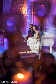 indian wedding reception,indian bride and groom,sweetheart stage