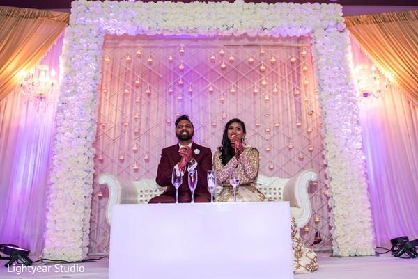 indian wedding reception,wedding stage,indian bride and groom
