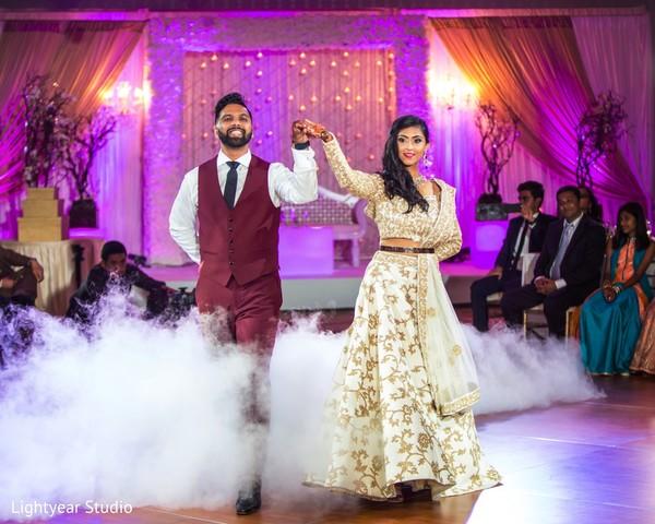 indian wedding reception,indian bride and groom,dj