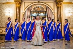 Glamorous Indian bridal party.