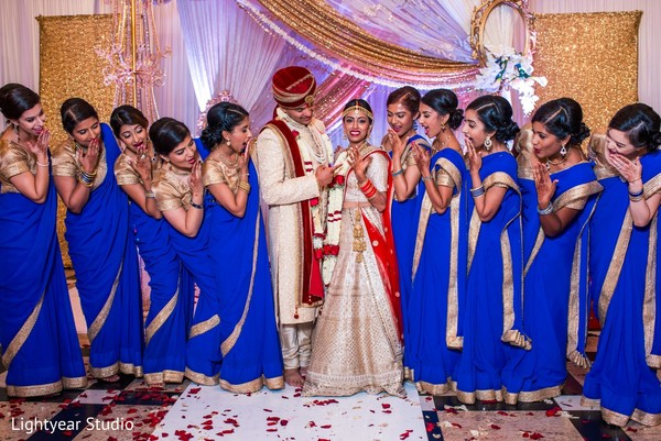 indian wedding ceremony,indian bridesmaids,indian bride and groom
