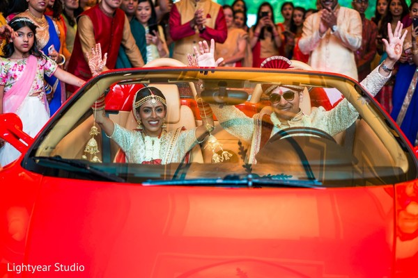 indian bride and groom,transportation,post ceremony traditions