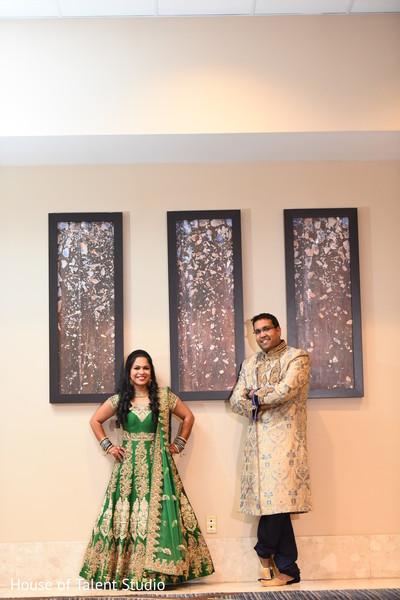 Elegant indian couple posing for photo shoot