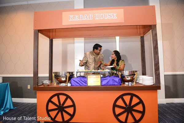 Sangeet food station decor