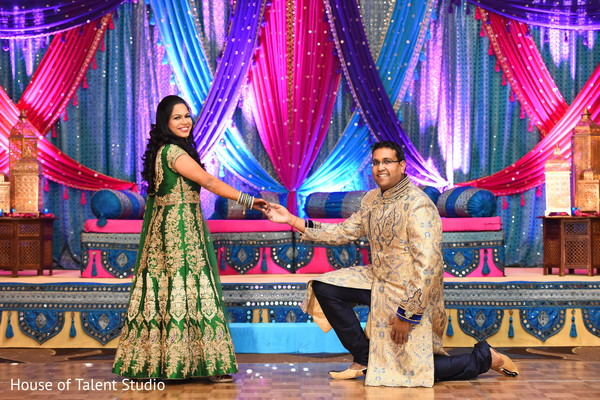Charming indian bride and groom posing
