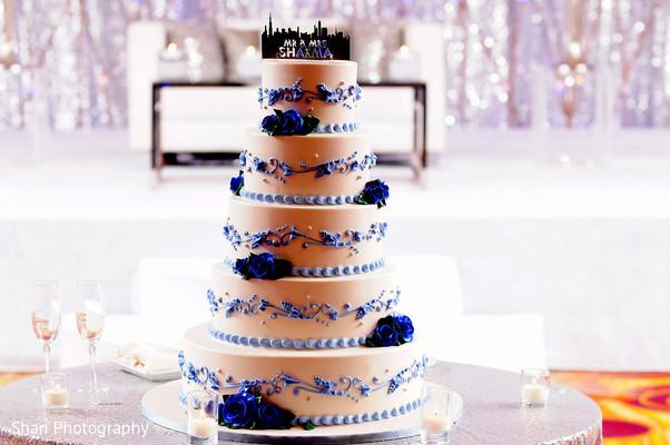 Splendid  five layer wedding cake.