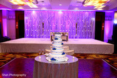indian wedding reception,wedding cake,cake topper,floral and decor