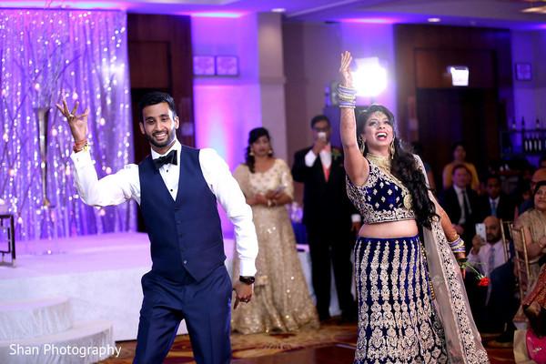 Enchanting Indian bride and groom choreography.