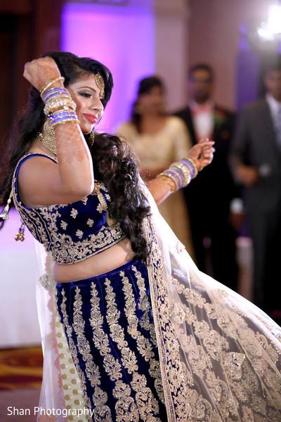 Indian bride ravishing dance.
