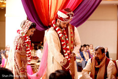 indian wedding ceremony,indian bride and groom,mandap