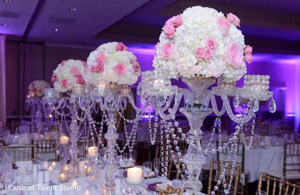 Glamorous floral centerpieces
