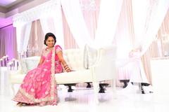 Sweet indian bride's reception photo shoot