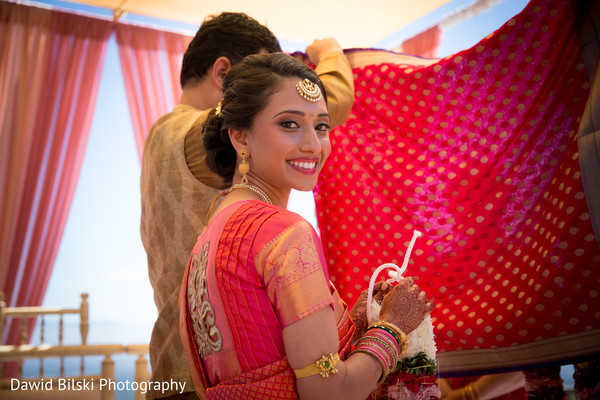 Lovely indian bride during wedding ceremony