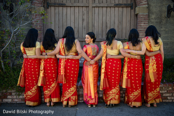 Graceful indian bridal party